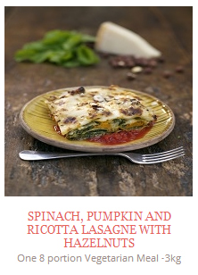 Spinach, Pumpkin and Ricotta Lasagne